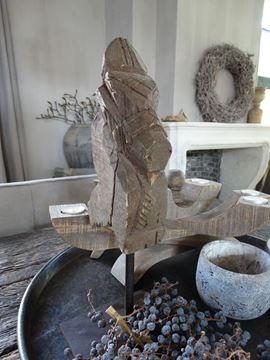 Afbeeldingen van Oud houten paarden hoofd ornament