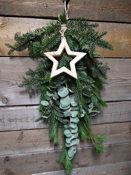Afbeeldingen van Kersttoef met decoratie ster