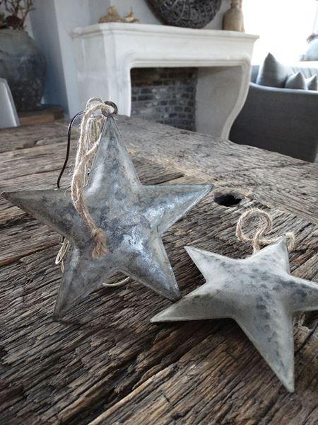 Afbeelding van Metalen decoratie ster hanger