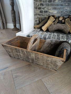 Afbeeldingen van Oude graanbak met handvat