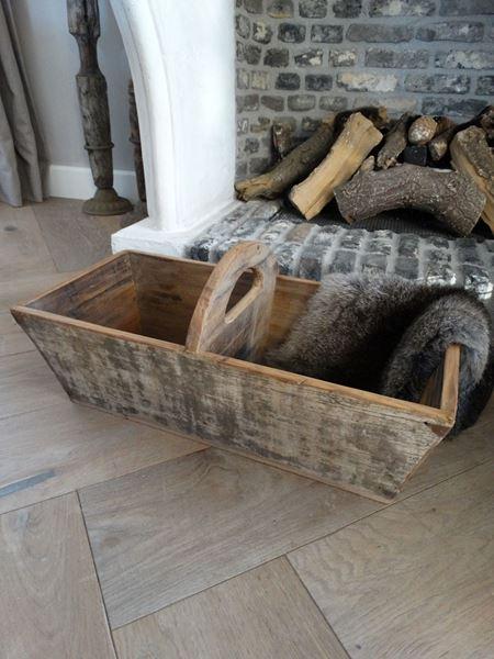 Afbeelding van Oude graanbak met handvat