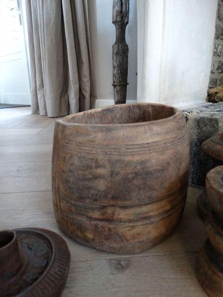 Afbeelding van Houten Nepalese pot nr. 12