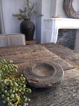 Afbeeldingen van Oud houten onderzetter kaarsenhouder nr. 1