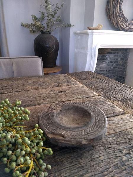 Afbeelding van Oud houten onderzetter kaarsenhouder nr. 1