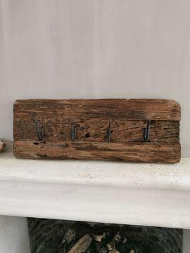 Afbeeldingen van Oud houten railway kapstok S