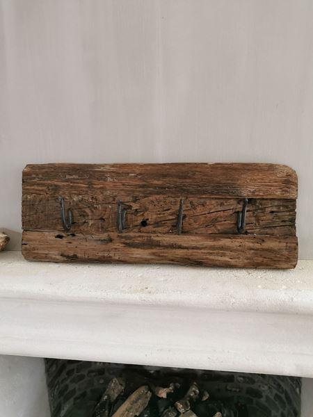 Afbeelding van Oud houten railway kapstok S