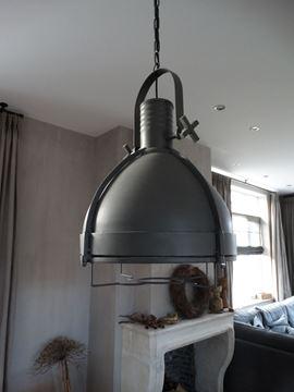 Afbeeldingen van Denver Grey stoere grijze hanglamp PTMD Collection