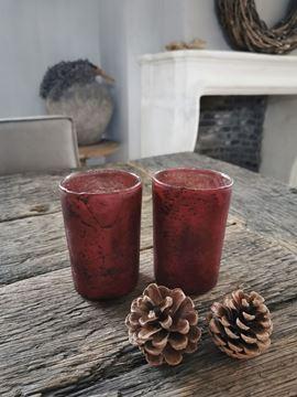 Afbeeldingen van Glazen waxinelichtje rood