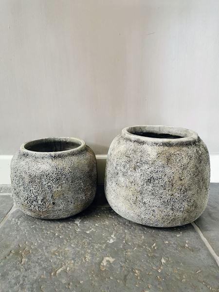 Afbeelding van Hardrock Grey cement pot L
