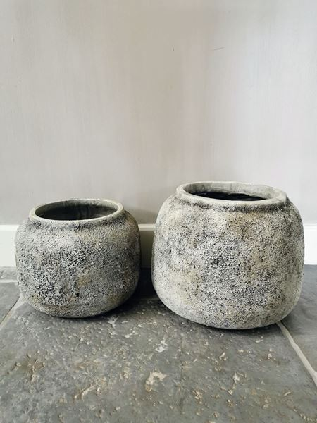 Afbeelding van Hardrock Grey cement pot XL