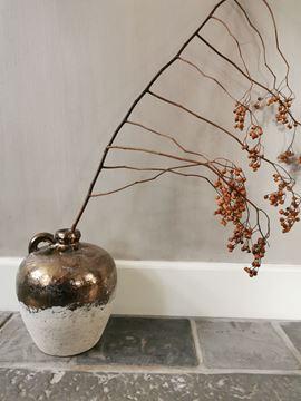 Afbeeldingen van Thriff Gold glazed ceramic kruik - pot S