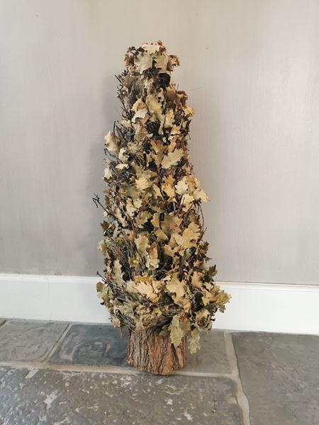 Afbeelding van Eikenblad herfst boom 65 cm