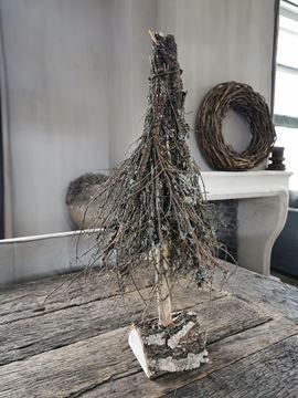 Afbeeldingen van Sober landelijk kerstboompje 55 cm