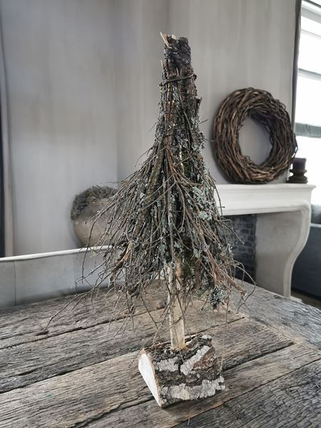 Afbeelding van Sober landelijk kerstboompje 55 cm