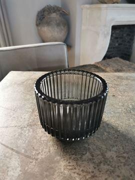 Afbeeldingen van Waxine glas ribbel zwart M