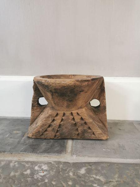 Afbeelding van Oud houten kandelaar nr. 9
