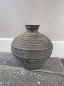 Afbeeldingen van Claypot Noor met hals donkergrijs