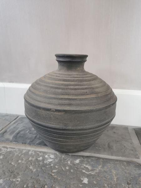 Afbeelding van Claypot Noor met hals donkergrijs