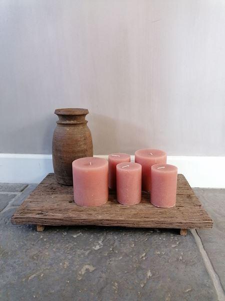 Afbeelding van Kaars roze 10 x 11 cm
