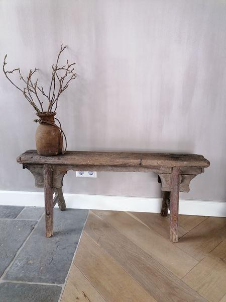 Afbeelding van Oud Chinees houten bankje nr 1