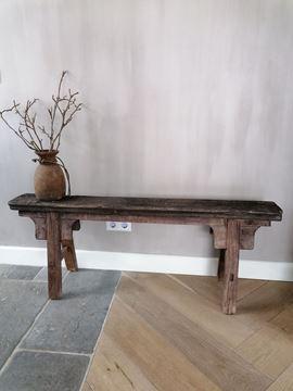 Afbeeldingen van Oud Chinees houten bankje nr 3
