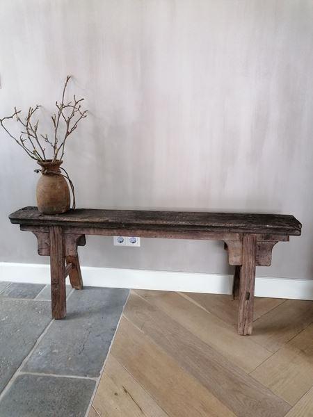 Afbeelding van Oud Chinees houten bankje nr 3