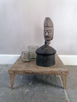 Afbeeldingen van Stoer & Stijlvol zwart houten koekjes pot