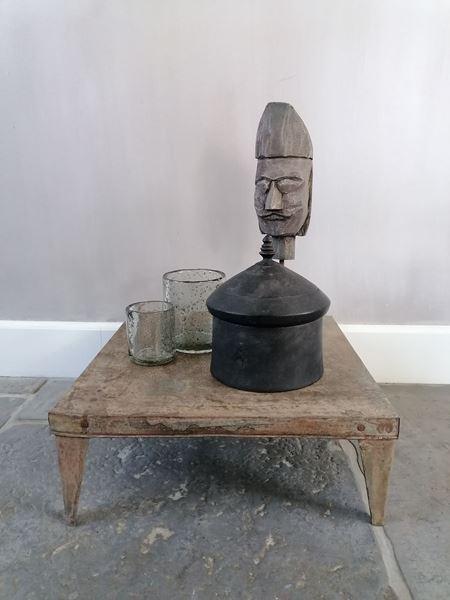 Afbeelding van Stoer & Stijlvol zwart houten koekjes pot