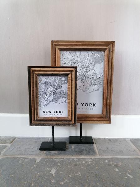 Afbeelding van Stoer & Stijlvol houten fotolijst op statief M