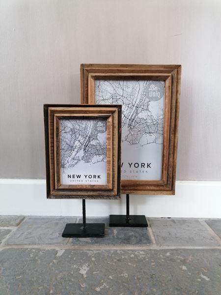 Afbeelding van Stoer & Stijlvol houten fotolijst op statief L