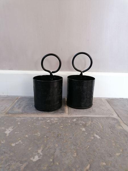 Afbeelding van Metalen bakje single zwart