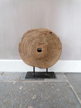 Afbeeldingen van Oud houten wiel ornament L