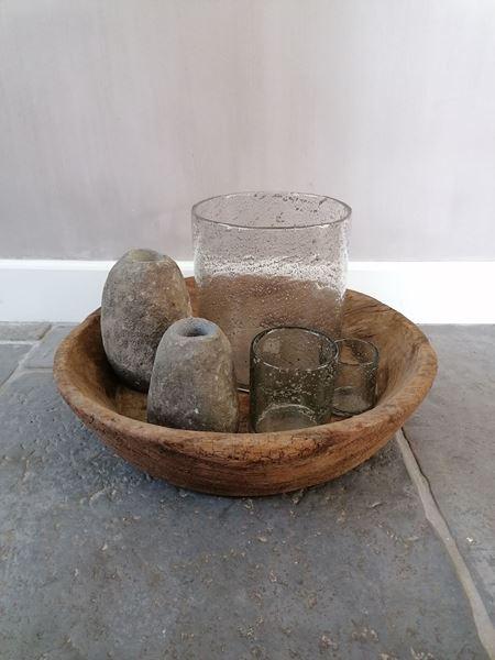 Afbeelding van Stoer & Stijlvol oud houten schaal L
