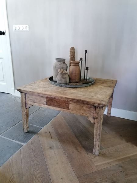Afbeelding van Oude Chinese salontafel vierkant