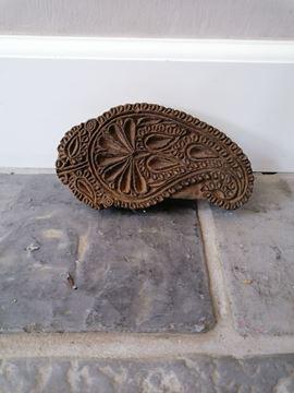 Afbeeldingen van Oude unieke houten stempel nr 2