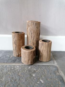 Afbeeldingen van Stoer & Stijlvol kandelaren set wood