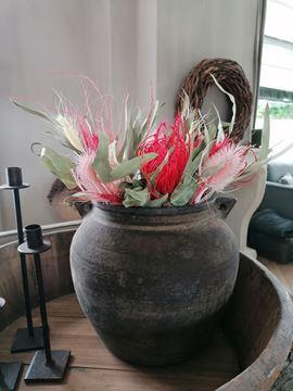 Afbeeldingen van Droogboeket met roze bloemen
