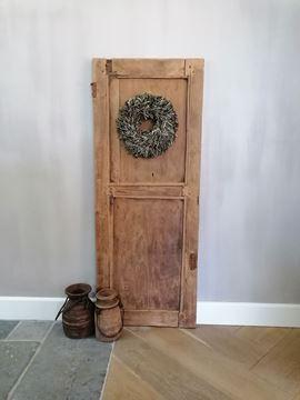 Afbeeldingen van Stoer & Stijlvol oud houten decoratie paneel deur