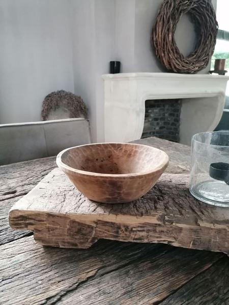 Afbeelding van Stoer & Stijlvol houten bakje rond nr. 6