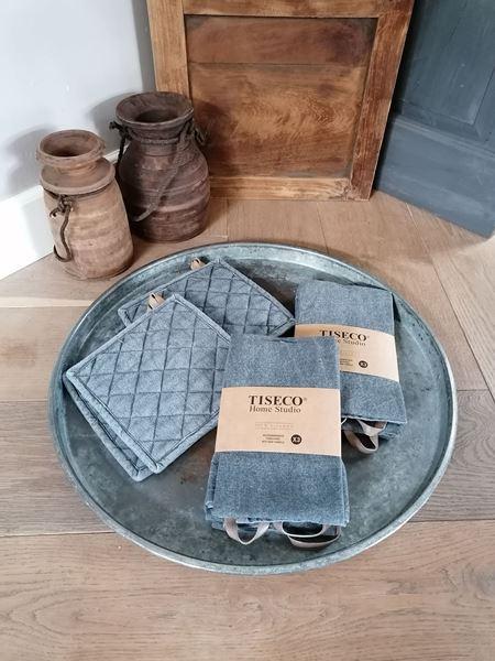 Afbeelding van Linnen look keukendoeken dark grey